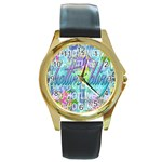 Drake 1 800 Hotline Bling Round Gold Metal Watch Front
