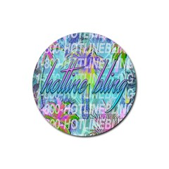 Drake 1 800 Hotline Bling Rubber Coaster (round)