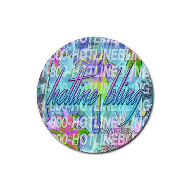 Drake 1 800 Hotline Bling Rubber Round Coaster (4 pack)