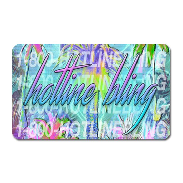 Drake 1 800 Hotline Bling Magnet (Rectangular)