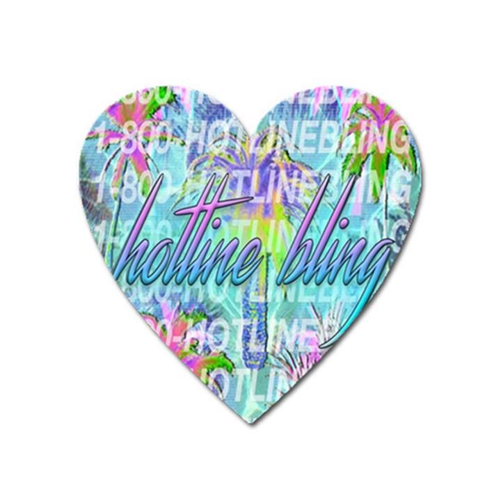 Drake 1 800 Hotline Bling Heart Magnet
