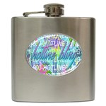 Drake 1 800 Hotline Bling Hip Flask (6 oz) Front