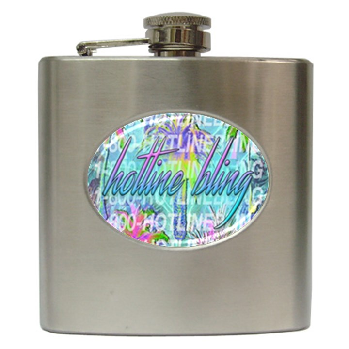 Drake 1 800 Hotline Bling Hip Flask (6 oz)
