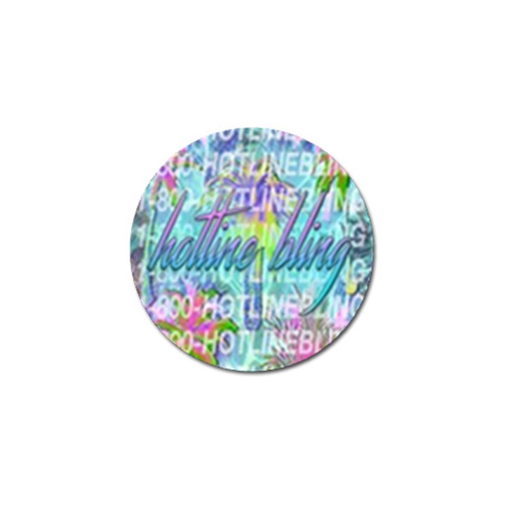 Drake 1 800 Hotline Bling Golf Ball Marker (4 pack)
