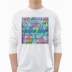 Drake 1 800 Hotline Bling White Long Sleeve T-Shirts