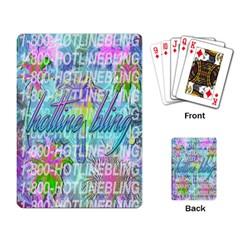 Drake 1 800 Hotline Bling Playing Card