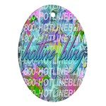 Drake 1 800 Hotline Bling Oval Ornament (Two Sides) Front