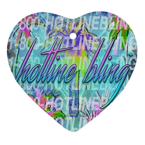 Drake 1 800 Hotline Bling Heart Ornament (2 Sides)