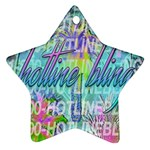Drake 1 800 Hotline Bling Star Ornament (Two Sides)  Front
