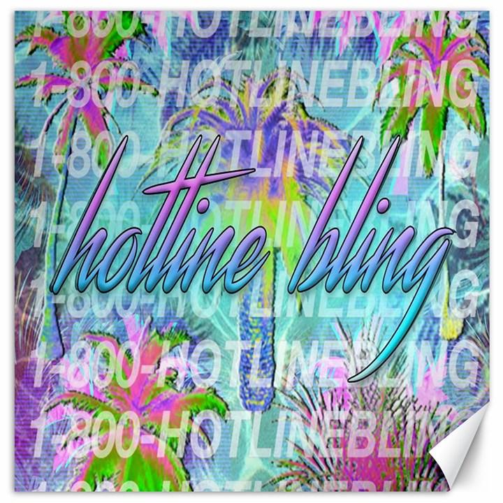 Drake 1 800 Hotline Bling Canvas 20  x 20
