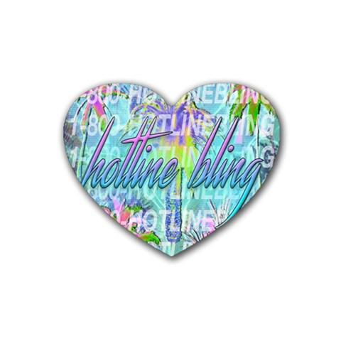 Drake 1 800 Hotline Bling Rubber Coaster (Heart)