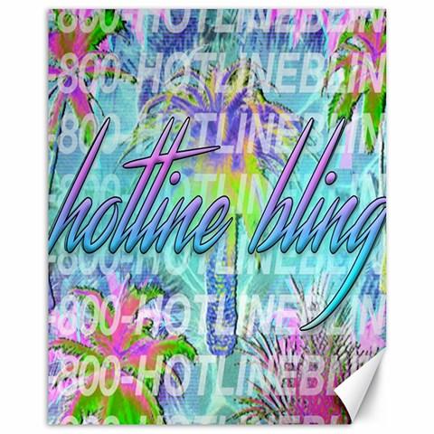 Drake 1 800 Hotline Bling Canvas 11  x 14
