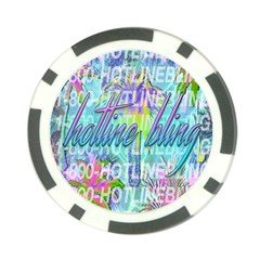 Drake 1 800 Hotline Bling Poker Chip Card Guards