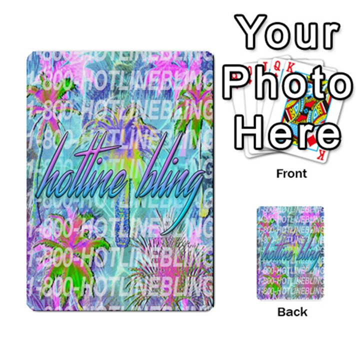 Drake 1 800 Hotline Bling Multi-purpose Cards (Rectangle)
