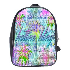 Drake 1 800 Hotline Bling School Bags(Large)