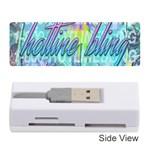 Drake 1 800 Hotline Bling Memory Card Reader (Stick)  Front