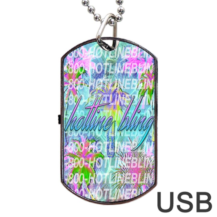 Drake 1 800 Hotline Bling Dog Tag USB Flash (Two Sides)
