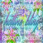 Drake 1 800 Hotline Bling Happy Birthday 3D Greeting Card (8x4) Inside