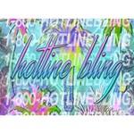 Drake 1 800 Hotline Bling Heart 3D Greeting Card (7x5) Back