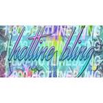 Drake 1 800 Hotline Bling HUGS 3D Greeting Card (8x4) Back