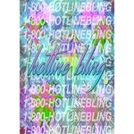 Drake 1 800 Hotline Bling Birthday Cake 3D Greeting Card (7x5) Inside