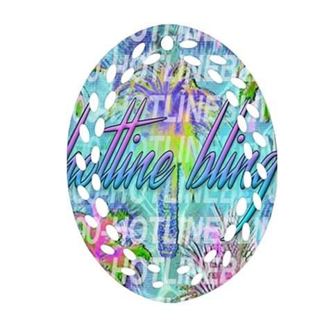 Drake 1 800 Hotline Bling Oval Filigree Ornament (2-Side)