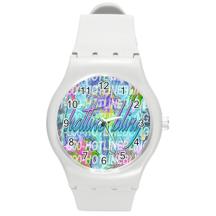 Drake 1 800 Hotline Bling Round Plastic Sport Watch (M)