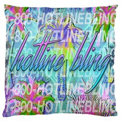 Drake 1 800 Hotline Bling Large Cushion Case (one Side)