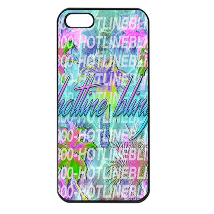 Drake 1 800 Hotline Bling Apple iPhone 5 Seamless Case (Black)
