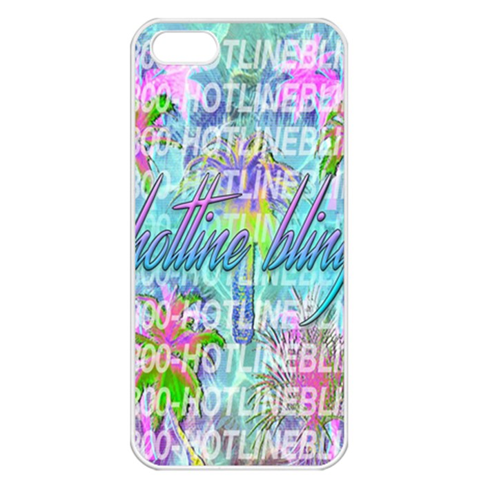 Drake 1 800 Hotline Bling Apple iPhone 5 Seamless Case (White)