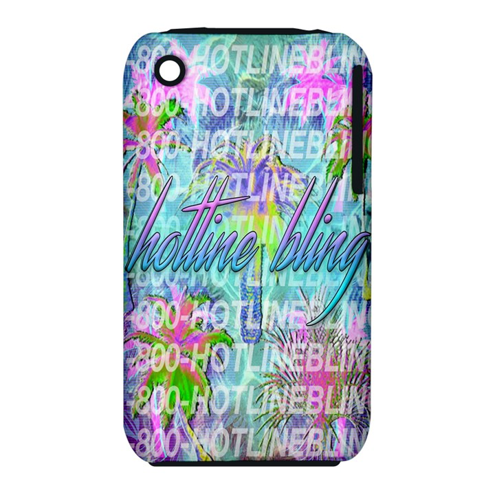 Drake 1 800 Hotline Bling Apple iPhone 3G/3GS Hardshell Case (PC+Silicone)