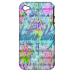Drake 1 800 Hotline Bling Apple iPhone 4/4S Hardshell Case (PC+Silicone)