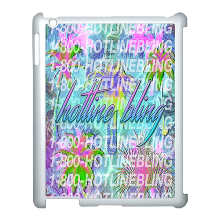 Drake 1 800 Hotline Bling Apple iPad 3/4 Case (White)