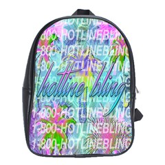 Drake 1 800 Hotline Bling School Bags (xl)