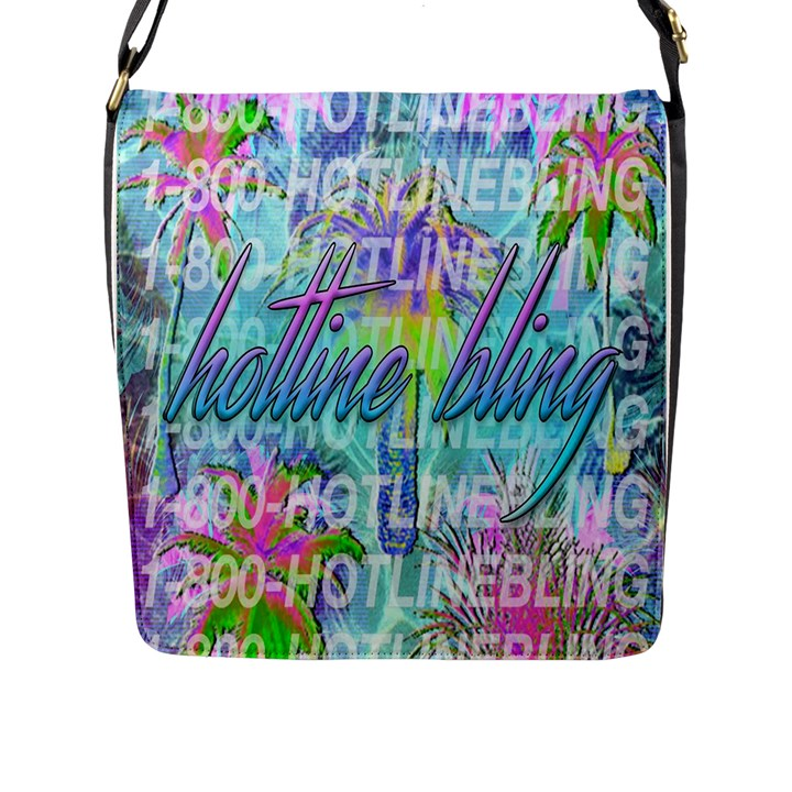 Drake 1 800 Hotline Bling Flap Messenger Bag (L)