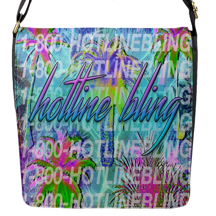 Drake 1 800 Hotline Bling Flap Messenger Bag (S)
