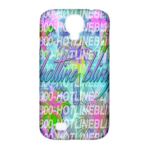 Drake 1 800 Hotline Bling Samsung Galaxy S4 Classic Hardshell Case (PC+Silicone)