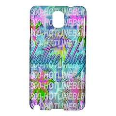 Drake 1 800 Hotline Bling Samsung Galaxy Note 3 N9005 Hardshell Case