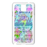 Drake 1 800 Hotline Bling Samsung Galaxy Note 3 N9005 Case (White) Front