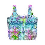 Drake 1 800 Hotline Bling Full Print Recycle Bags (M)  Back