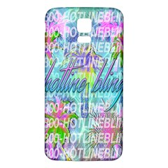 Drake 1 800 Hotline Bling Samsung Galaxy S5 Back Case (White)