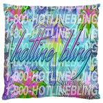 Drake 1 800 Hotline Bling Large Flano Cushion Case (One Side) Front