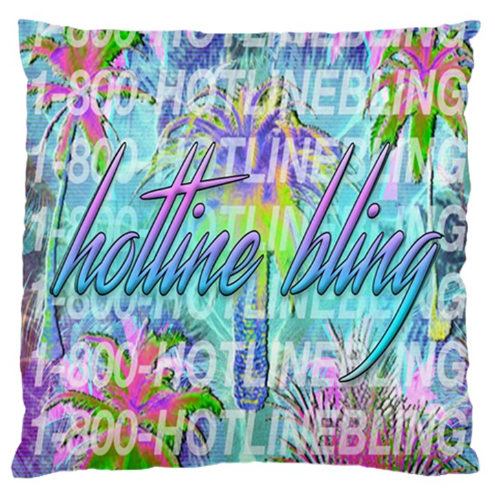 Drake 1 800 Hotline Bling Large Flano Cushion Case (One Side)