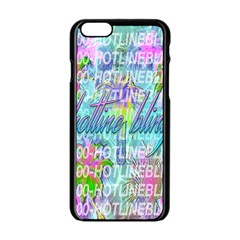 Drake 1 800 Hotline Bling Apple iPhone 6/6S Black Enamel Case