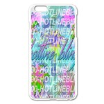 Drake 1 800 Hotline Bling Apple iPhone 6 Plus/6S Plus Enamel White Case Front