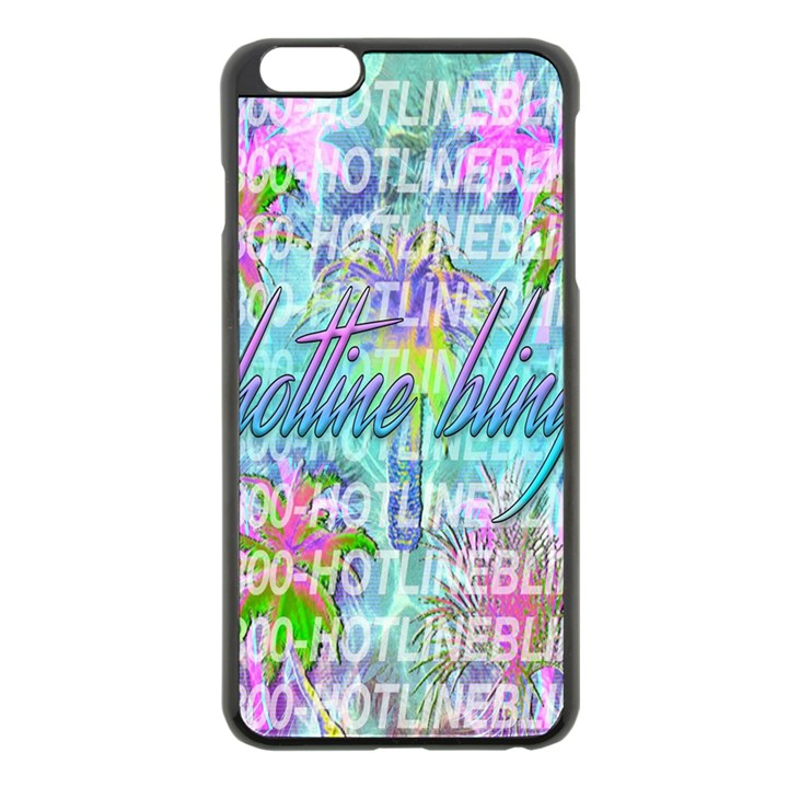 Drake 1 800 Hotline Bling Apple iPhone 6 Plus/6S Plus Black Enamel Case