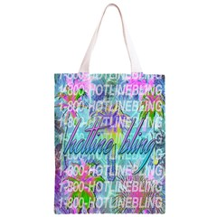 Drake 1 800 Hotline Bling Classic Light Tote Bag