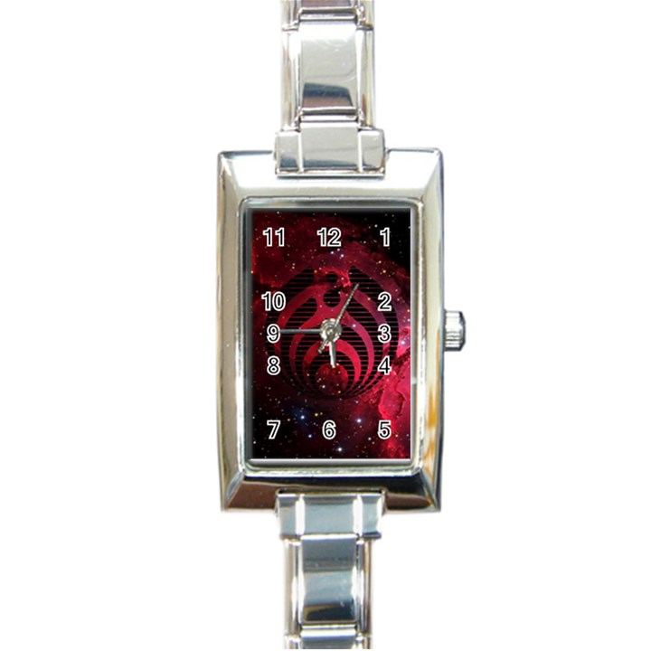 Bassnectar Galaxy Nebula Rectangle Italian Charm Watch
