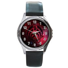 Bassnectar Galaxy Nebula Round Metal Watch