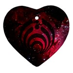 Bassnectar Galaxy Nebula Ornament (Heart)  Front